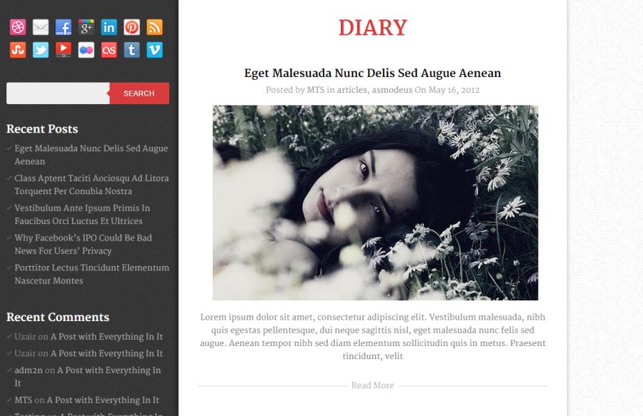 Photo of Diary WordPress Theme Free Download