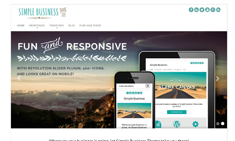 Simple Business Theme